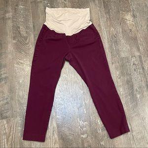 GAP MATERNITY Secret Belly Skinny Ankle Pants 8